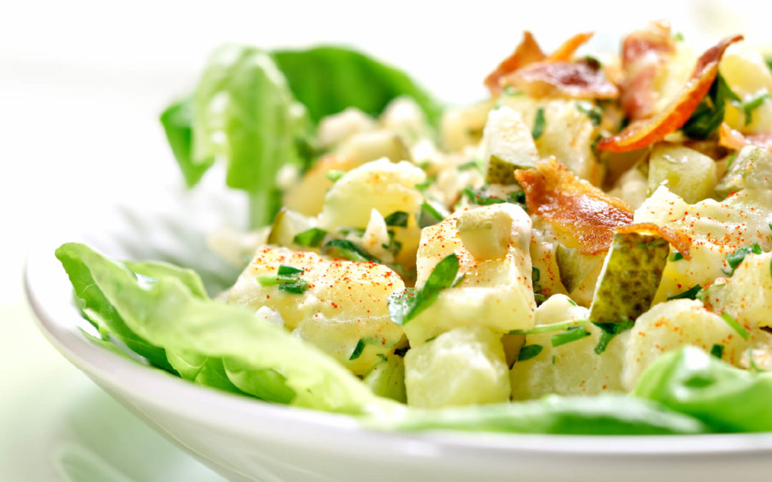 Kartoffelkrautsalat mit Speck
